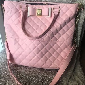 Light pink betsey Johnson tote!